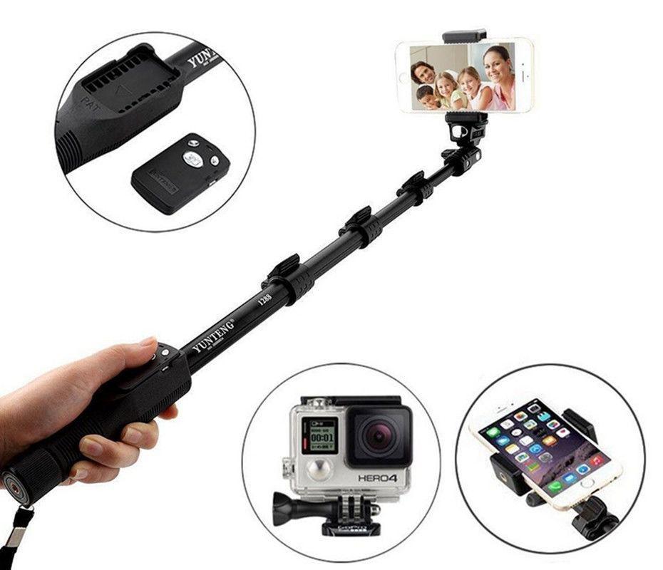 Bastão Pau De Selfie 1,25 Mt Bluetooth Com Controle Yunteng Tomate
