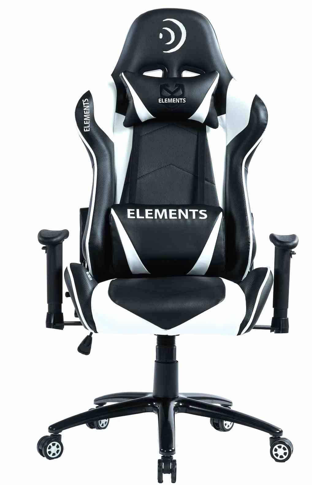 Cadeira Gamer Elements Veda com Almofadas Lombar e Cervical