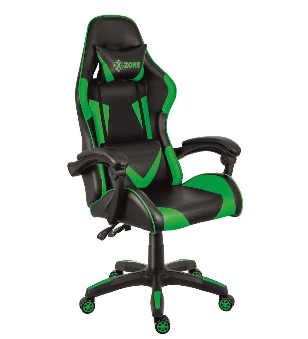 Cadeira Gamer Reclinável 140 Graus Com Rodinhas Xzone CGR-01 Preto Verde