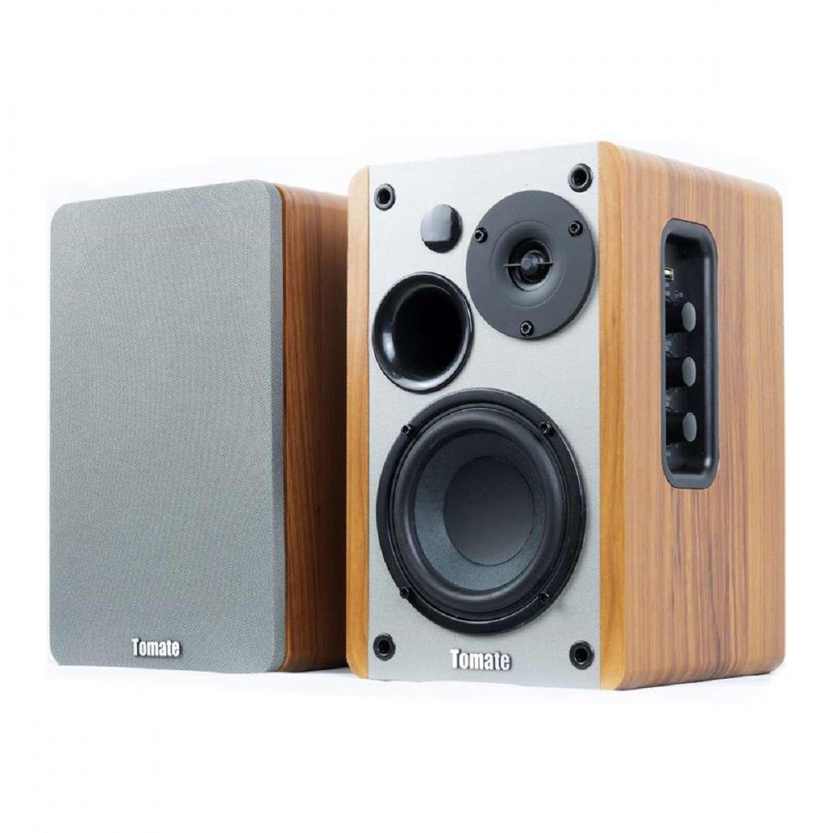 Caixa De Som Ativa Monitor Bluetooth Cabo Óptico Tomate Mts 2026