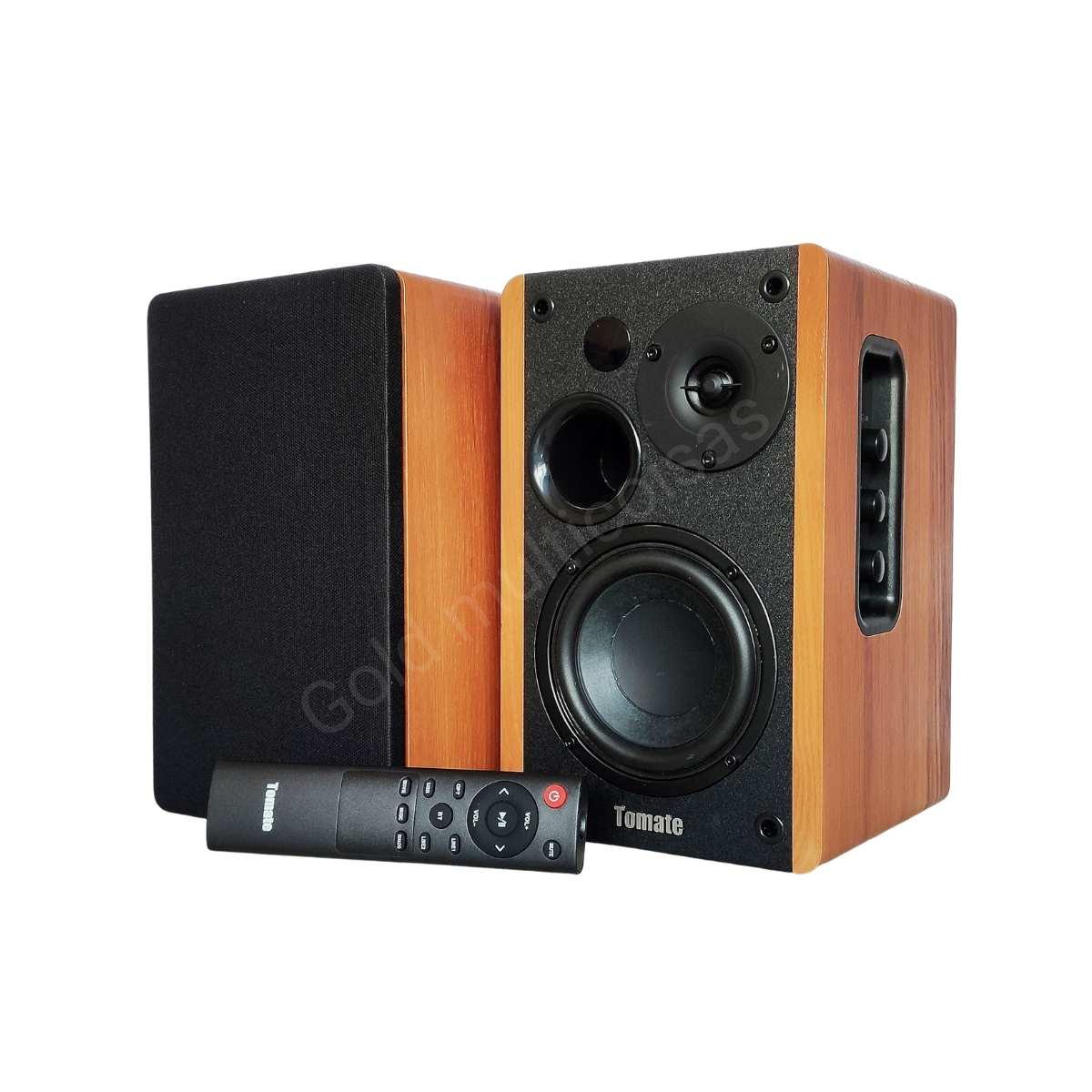 Caixa De Som Ativa Monitor Bluetooth Óptico Tomate Mts 2026 Preto