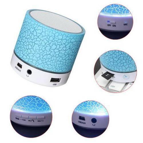 Caixa de Som Bluetooth Rádio FM MP3 Cartão SD USB AUX 5 W EXBOM