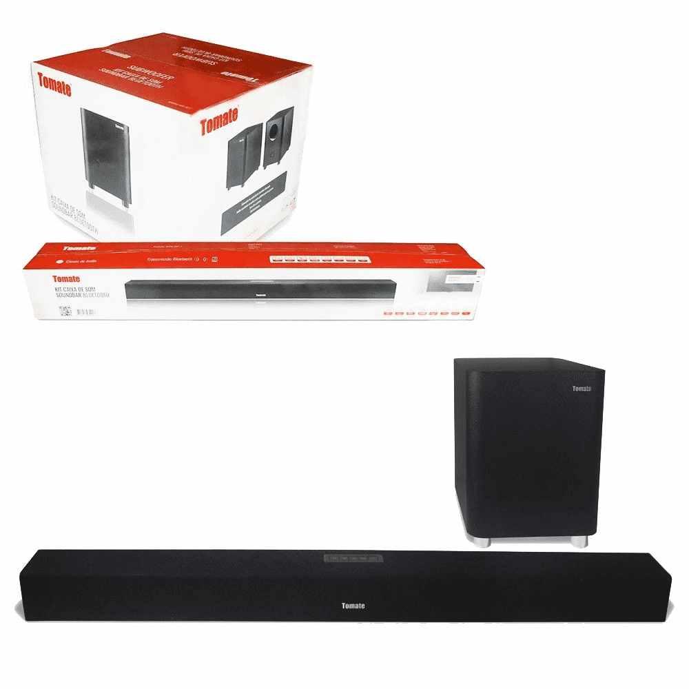 Caixa De Som Soundbar Tomate 150w Tv Subwoofer Bluetooth Áudio Óptico Usb Mts-2017