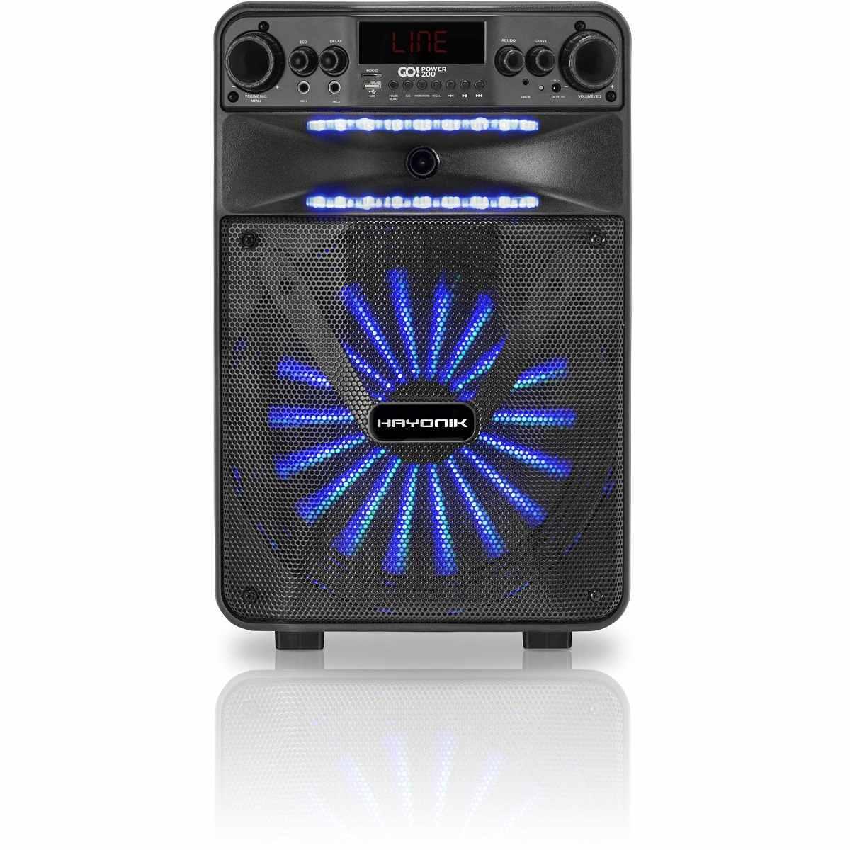 CaixaDe Som Portátil Bluetooth/MicroSD/USB/FM 100W GOPOWER 200 Hayonik