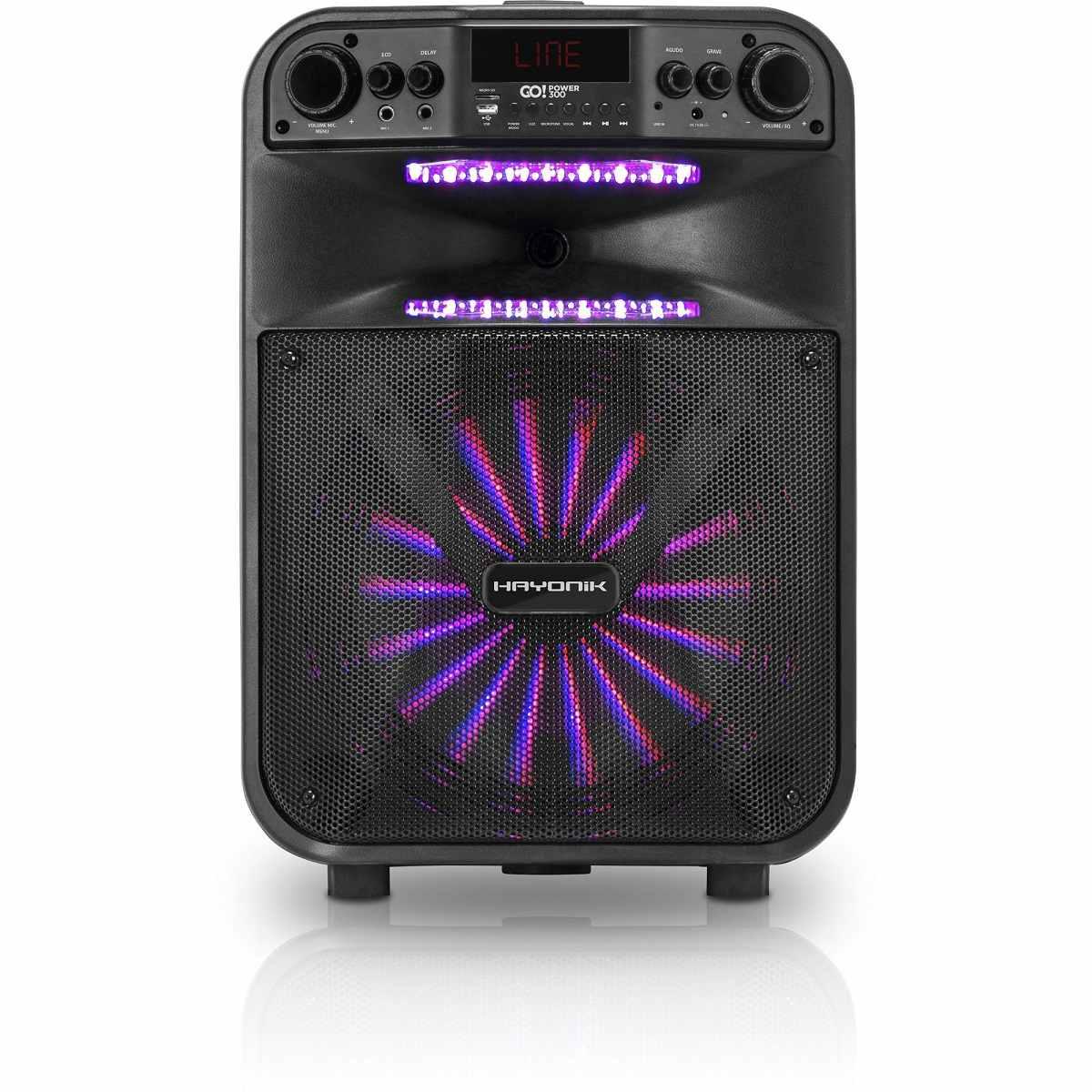 Caixa de Som Portátil Bluetooth/MicroSD/USB/FM 200W GOPOWER 300 Hayonik