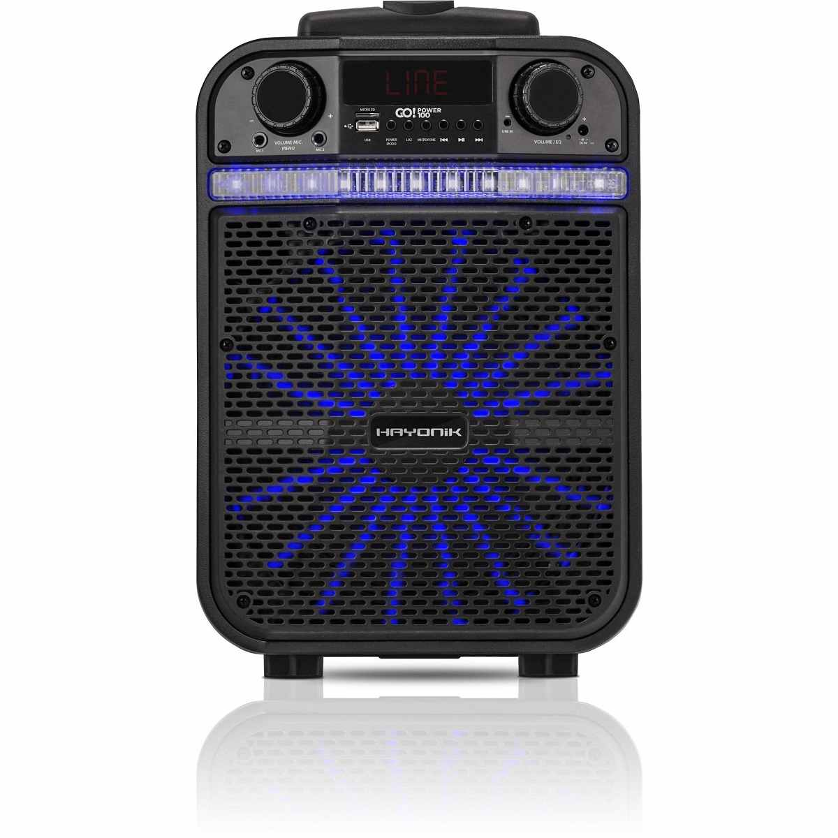 Caixa de Som Portátil Bluetooth/MicroSD/USB/FM 80W GOPOWER 100 Hayonik