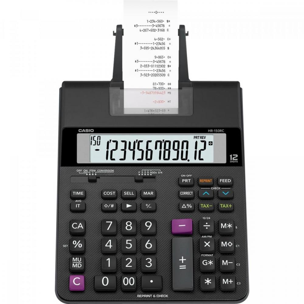 Calculadora De Mesa Casio Com Bobina Compacta HR150R Bivolt
