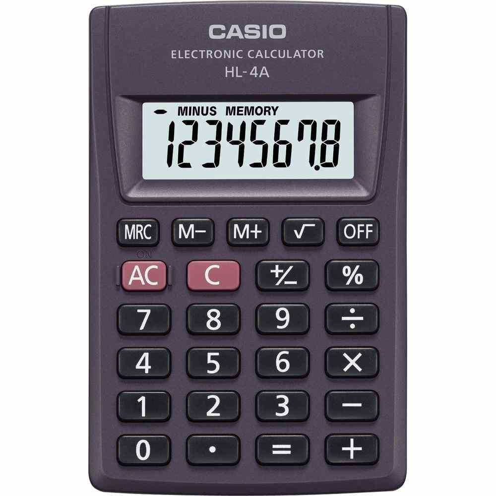 Calculadora Casio De Bolso 8 Dígitos HL-4A Preta