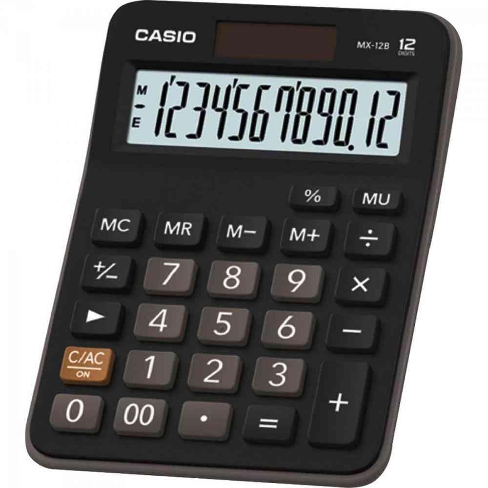 Calculadora Casio De Mesa MX-12B Preta