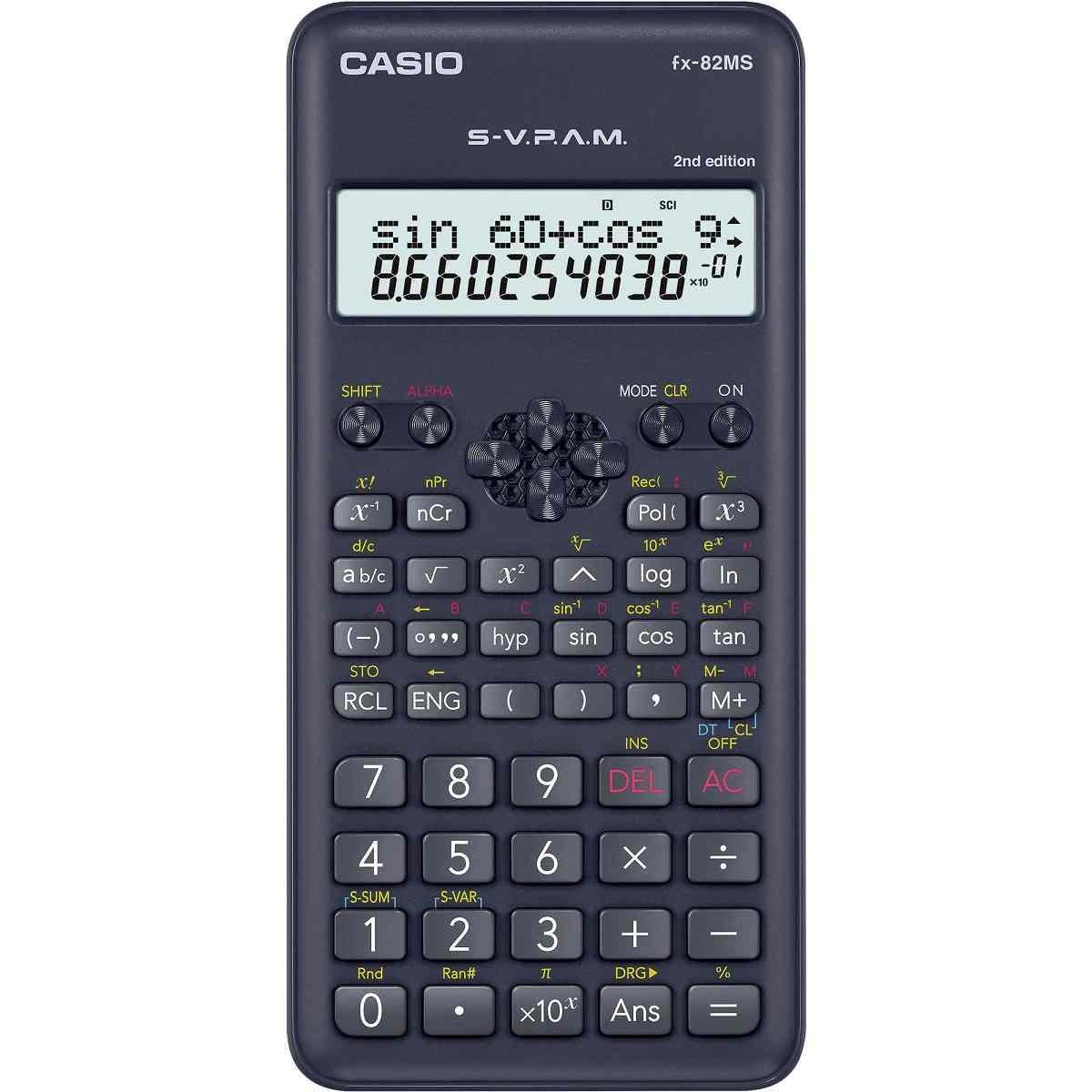 Calculadora Científica 240 Funções FX-82MS-2-S4-DH De Mesa Preta Casio
