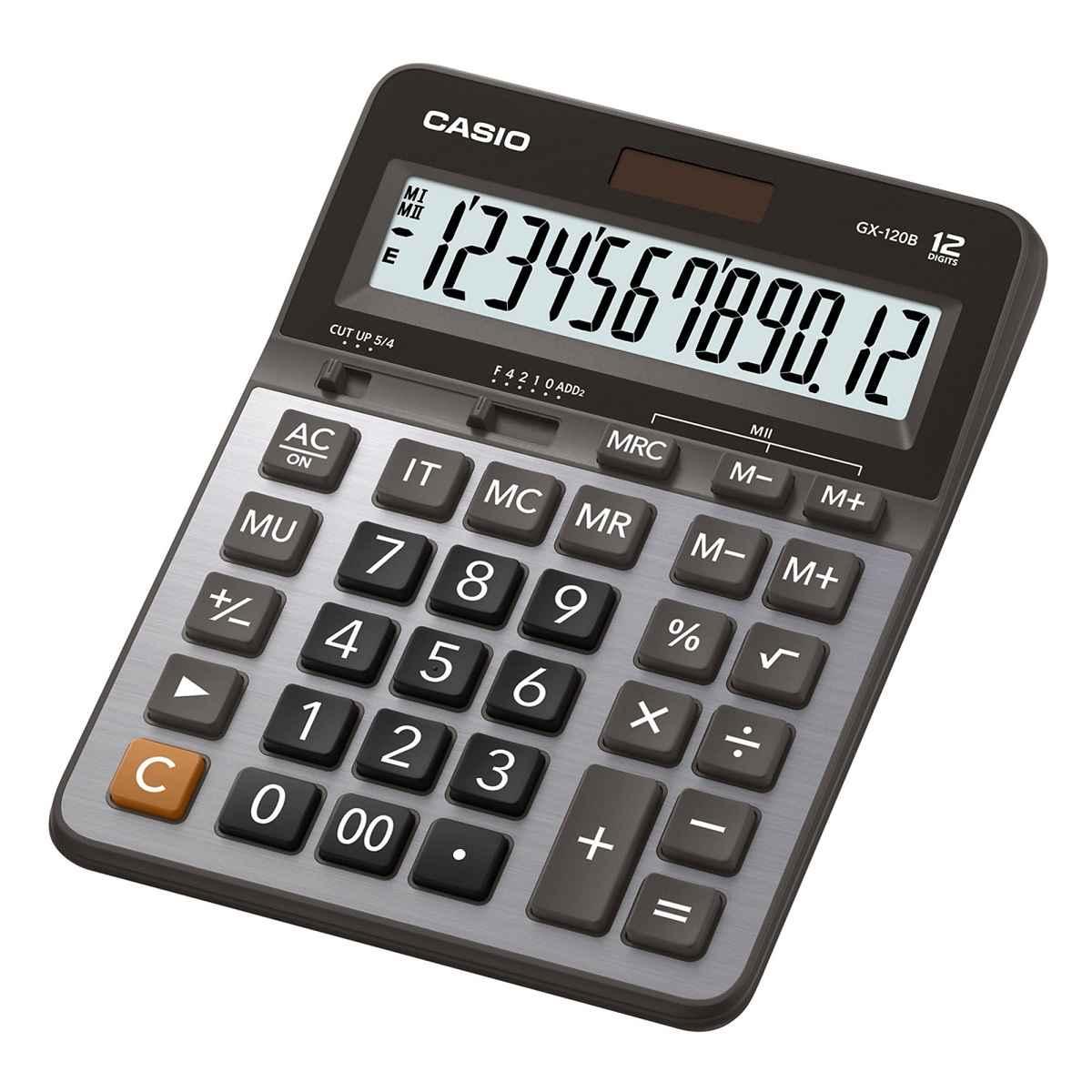 Calculadora De Mesa 2 Memoria Mark-up 12 Dígitos GX-120B Prata Casio