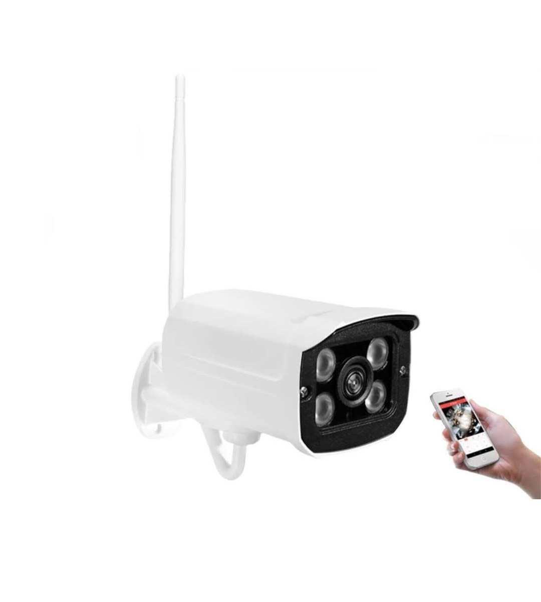 Câmera Ip Wifi Externa 2 Antenas Hd Acesso Remoto + Fonte Bivolt