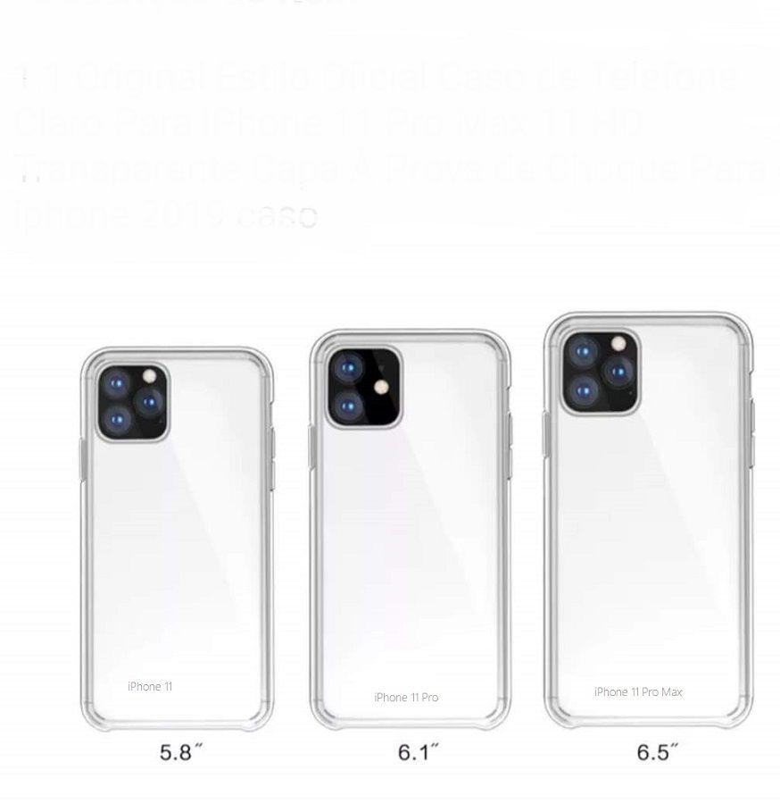 Capa Capinha Para Iphone 11- 11 Pro - Pro Max  Silicone  Anti Impacto Tpu