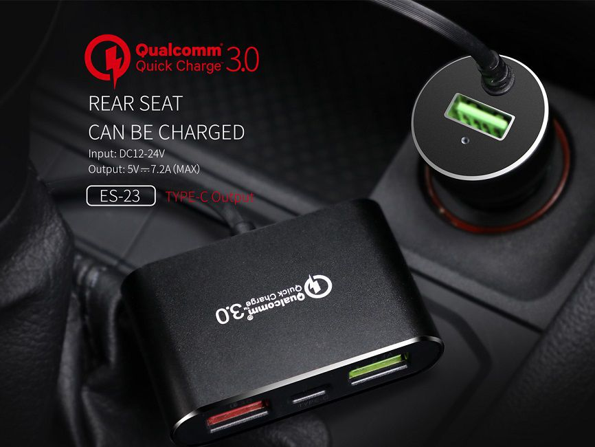 Carregador Celular Veicular 7.2A Táxi UBER 4 USB Ciyocorps Original