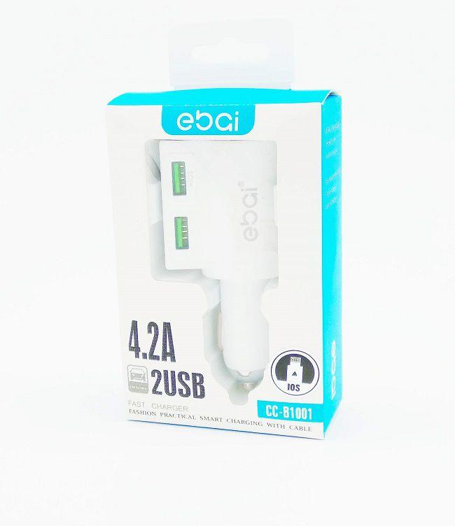 Carregador Veicular Caminhão 2 Entrada USB 12-24V Ebai