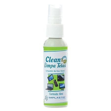 Clean Limpa Telas 60ml + Flanela Anti Risco Implastec