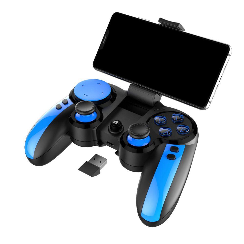Controle iPega PG9090 Bluetooth Gamepad Controlador De Jogo PUBG - Azul