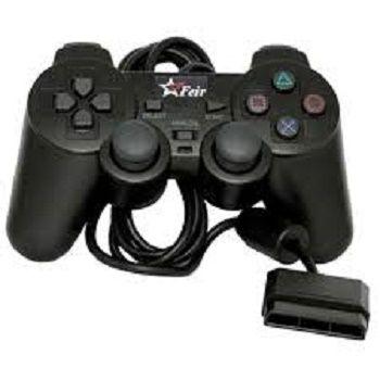 Controle para PS2 Botoes Macios e Precisos Preto Feir Feir