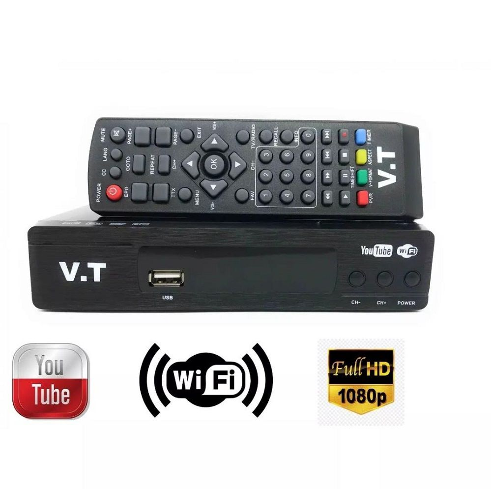 Conversor Digital Wifi Youtube Usb Full Hd + Antena Wifi 1080p