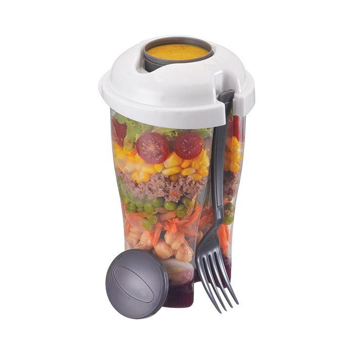 Copo Para Salada Com Garfo E Reservatório De Molho 900 ml Art House