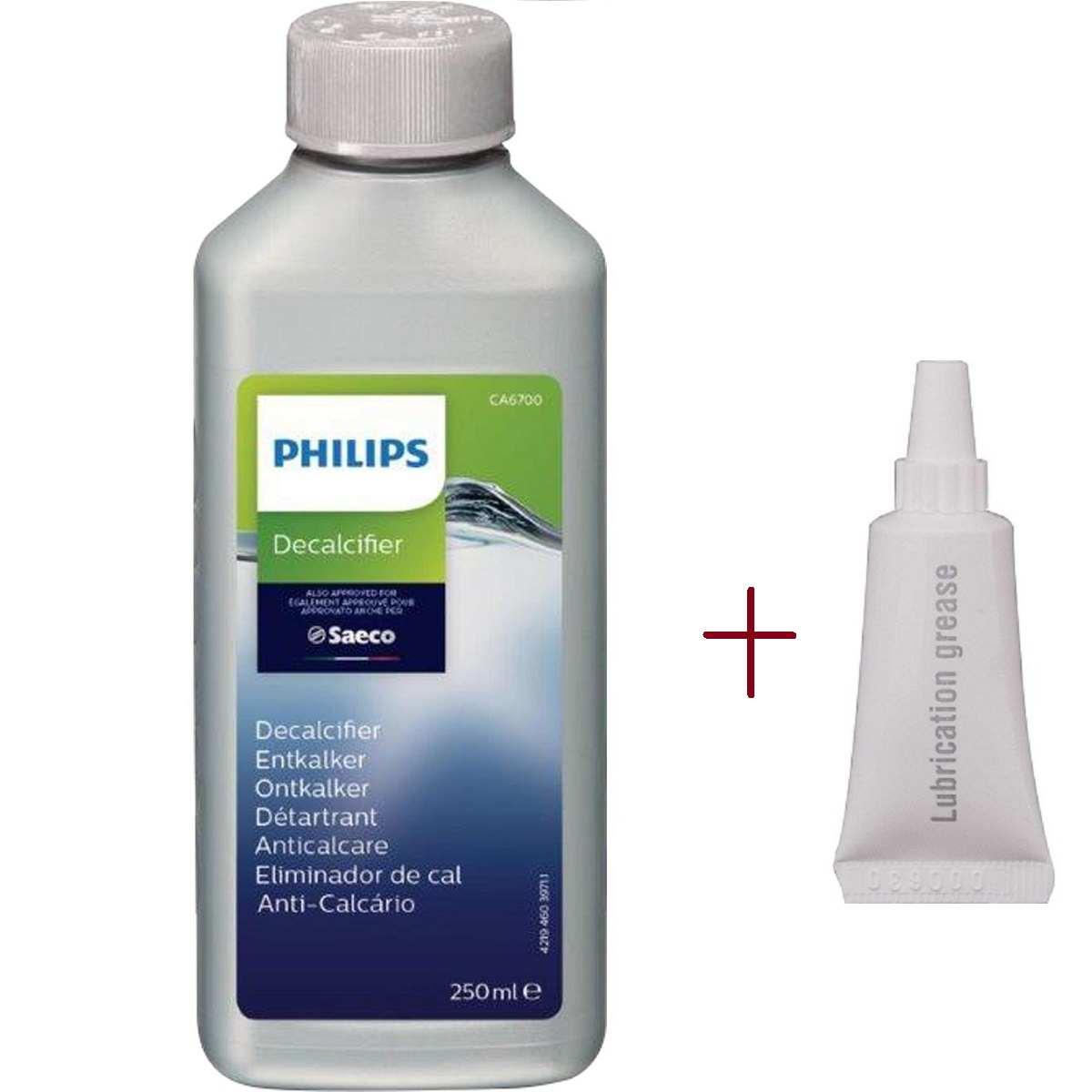 Descalcificante Liquido 250ml+ Lubrificante 5g P/ Cafeteira Expresso Philips Saeco