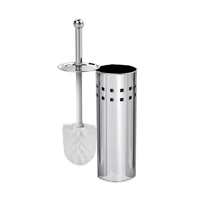 Escova Sanitária Aço inox com Suporte 38 X 9,5 cm