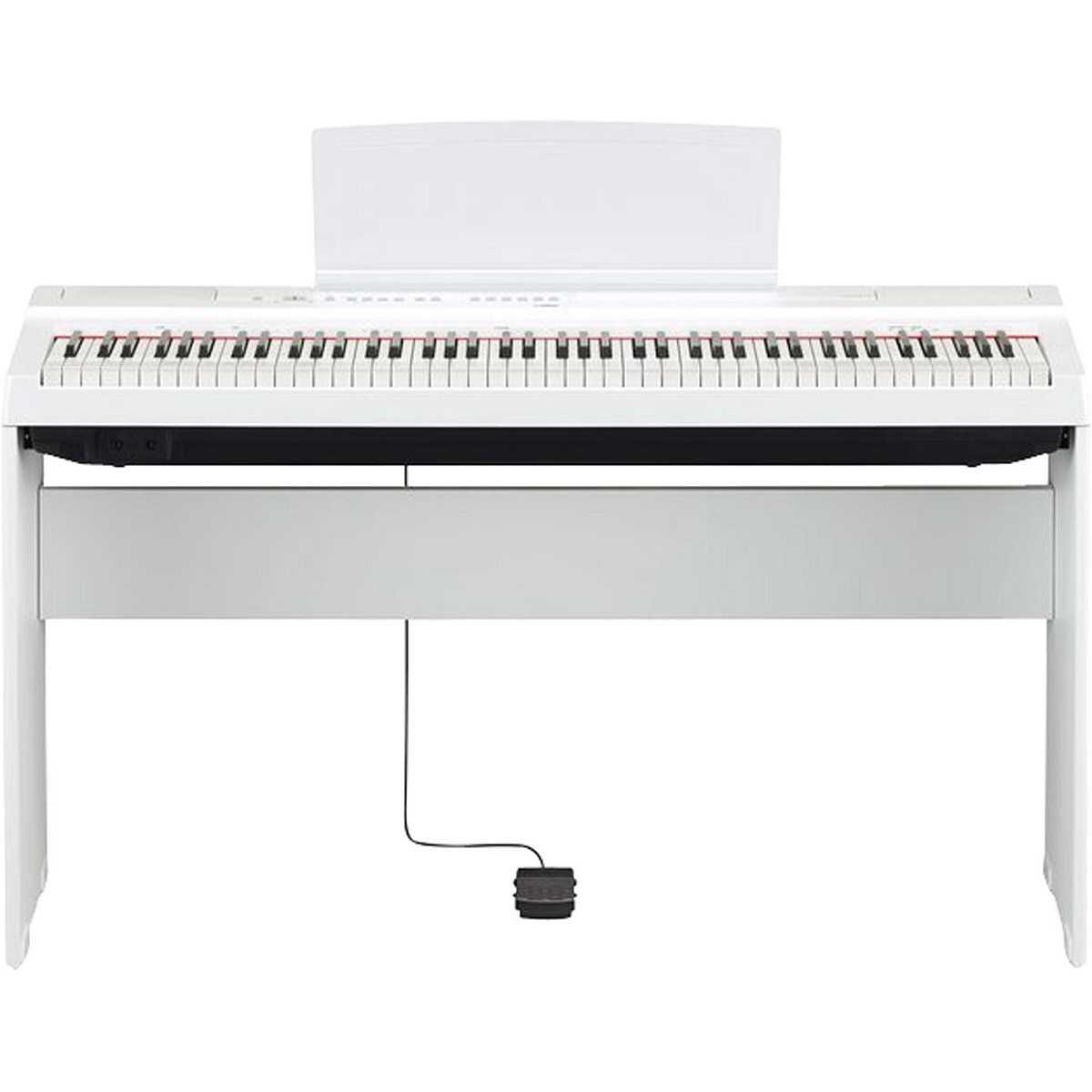 Estante Para Piano Yamaha L125WH P125 Branco