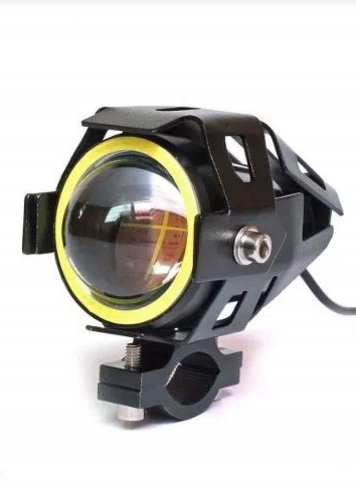 Farol Universal Olhos De Anjo Led Cree U7 Moto 1 Unid Iluminação Top