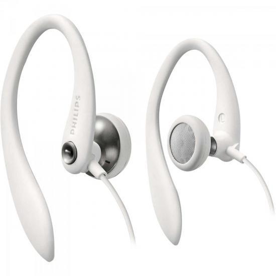 Fone de Ouvido Esportivo Gancho de Orelha SHS3300WT/10 Branco Philips