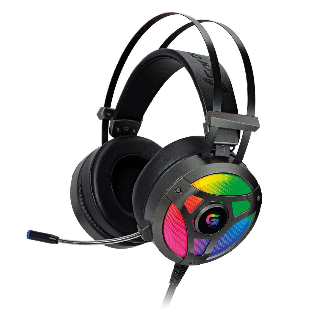 Fone De Ouvido Headset Gamer 7.1 Surround Fortrek G Pro LED RGB H1 Plus USB