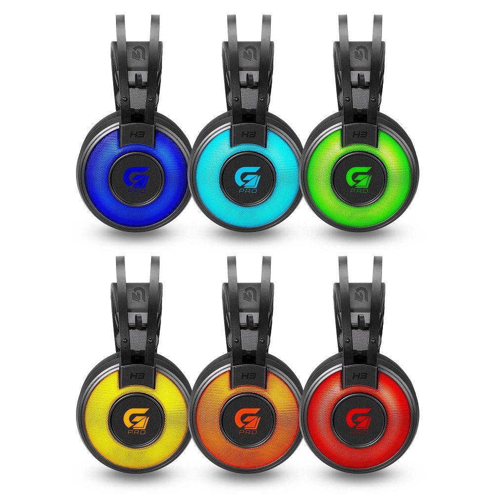 Fone De Ouvido Headset Gamer Fortrek H3 G Pro LED RGB P2