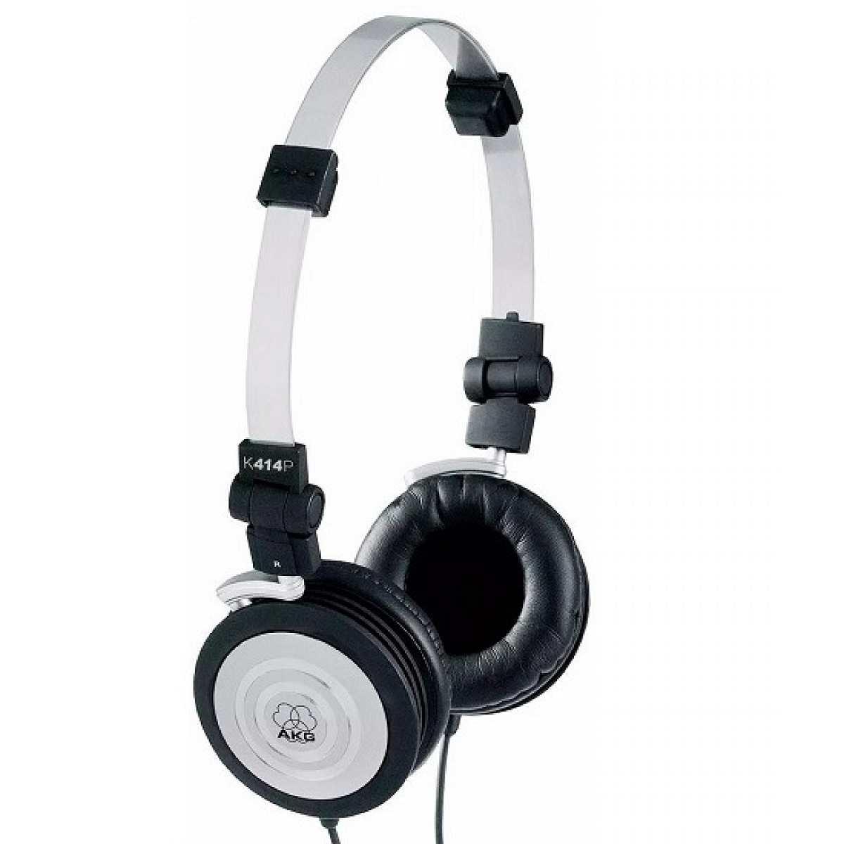 Fone de Ouvido Profissional Djs - Sonorização Compacto K414P Preto/Prata AKG