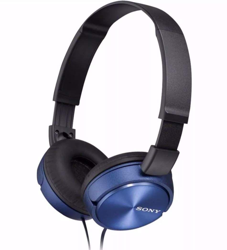 Fone De Ouvido Sony Auricular Com Microfone Mdr Zx310 Azul