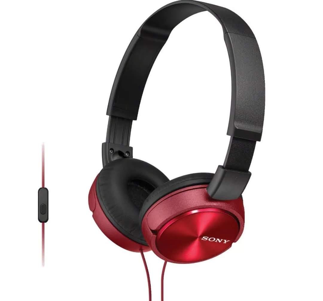 Fone De Ouvido Sony Auricular Com Microfone Mdr Zx310 Vermelho