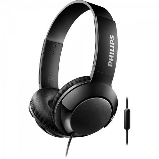 Fone De Ouvido Supra Auricular Philips Shl3075 C/ Microfone Preto