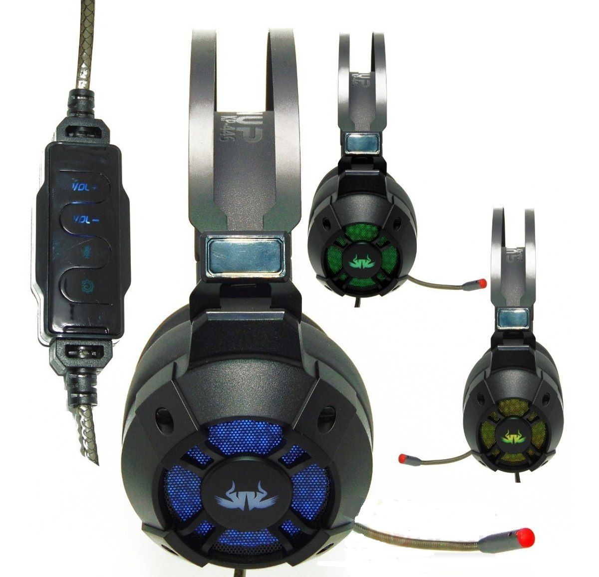 Fone Headset Gamer 7.1 Usb Pc Vibration Extreme Knup Kp-446