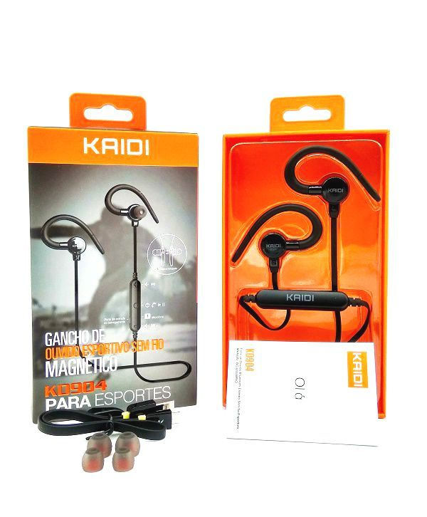 Fone Ouvido Esportivo Bluetooth Com Microfone Kaidi KD-904