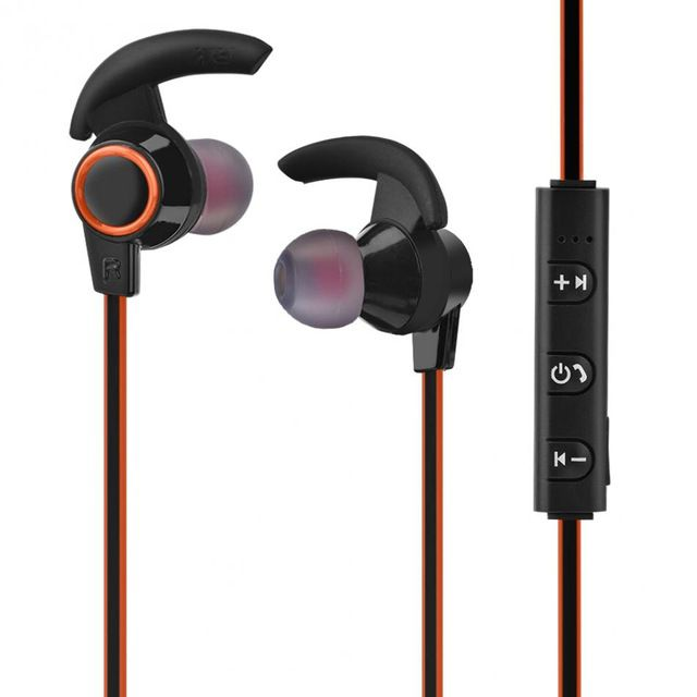 Fone Ouvido Sports Bluetooth Com Microfone AMW-810 Laranja