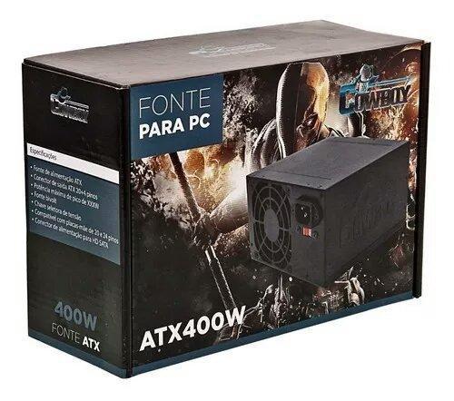 Fonte Atx 400W Reais + Cabo De Energia Para PC Gamer Kp-532  Bivolt - Cowboy