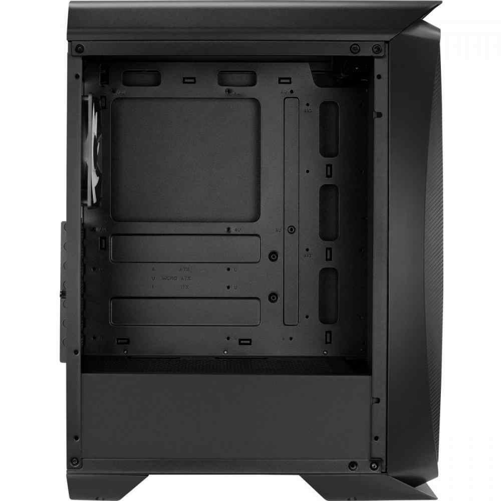 Gabinete Gamer Mid Tower RGB Aero One Front Preto C/Fans Aerocool