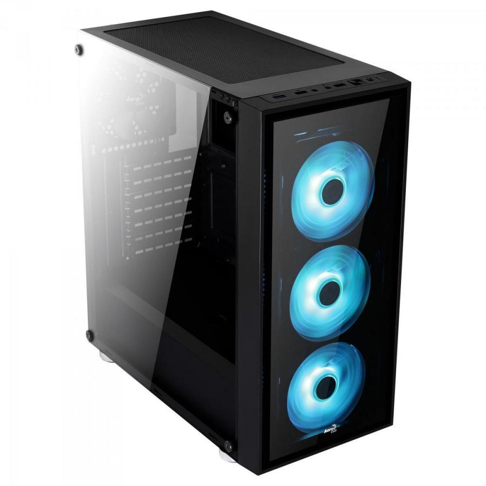 Gabinete Mid Tower ATX QUARTZ RGB Preto Aerocool