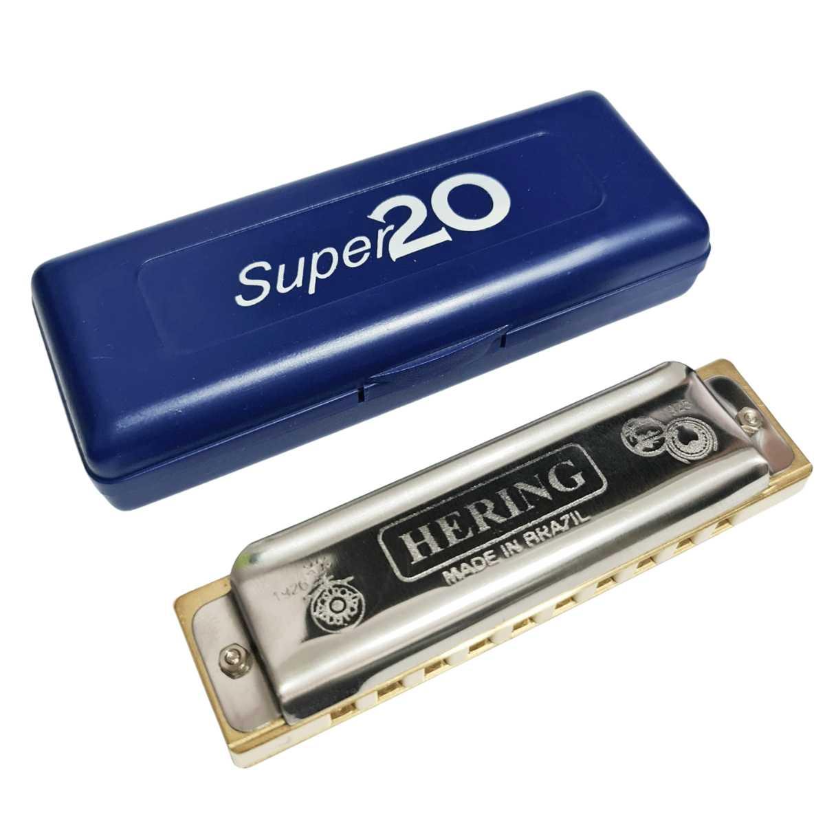 Gaita Hering Profissional Boca Super 20 RÉ 8020D Com Estojo
