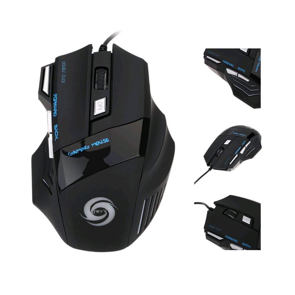 Mouse Gaming 3200 DPI 7 Botão 7D LED óptico USB Wired