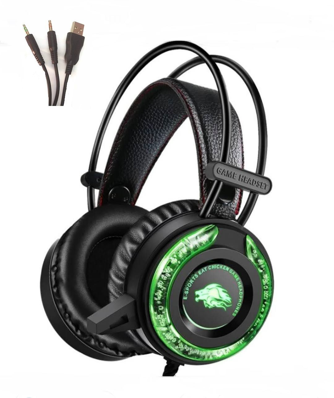 Headset Fone De Ouvido Gamer Usb P2 Bass Pc Led Rgb