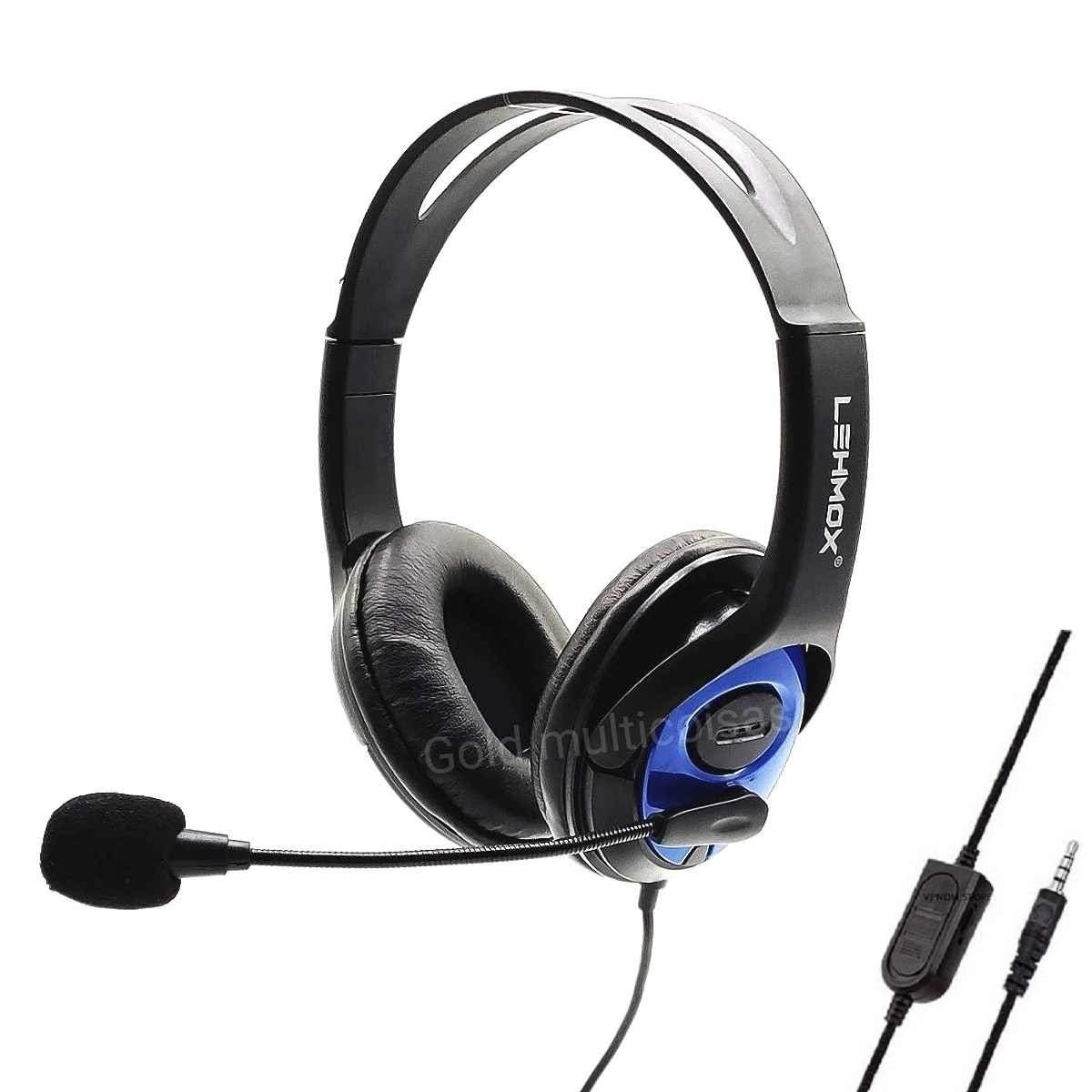 Headset Fone Gamer C/ Microfone Compatível Ps4 - Xbox One Lehmox Ley-35