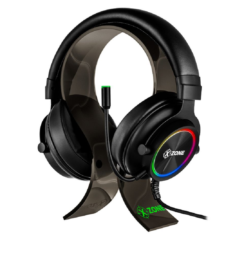 Headset Fone Gamer Led Rgb Com Suporte Xzone GHS-01