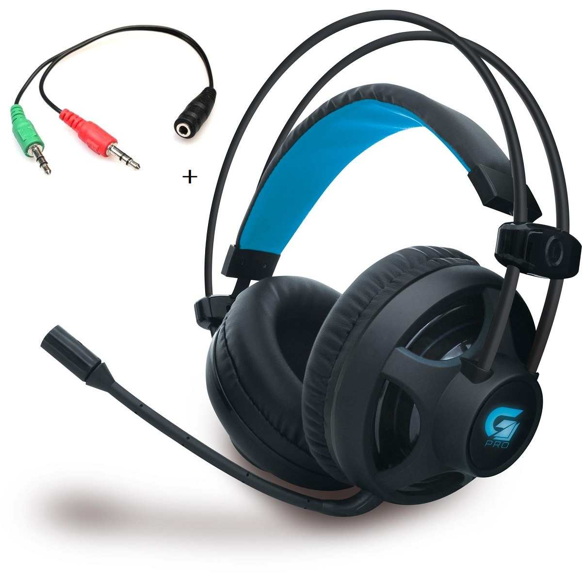 Headset Fone Gamer Pro H2 Fortrek + Adaptador P2