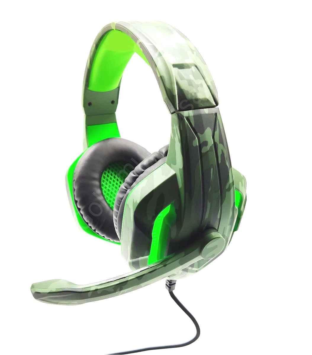 Headset Gamer Fone Profissional Camuflado Compatível C/Celular Ps4 Xbox One TecDrive PX-4 Selva