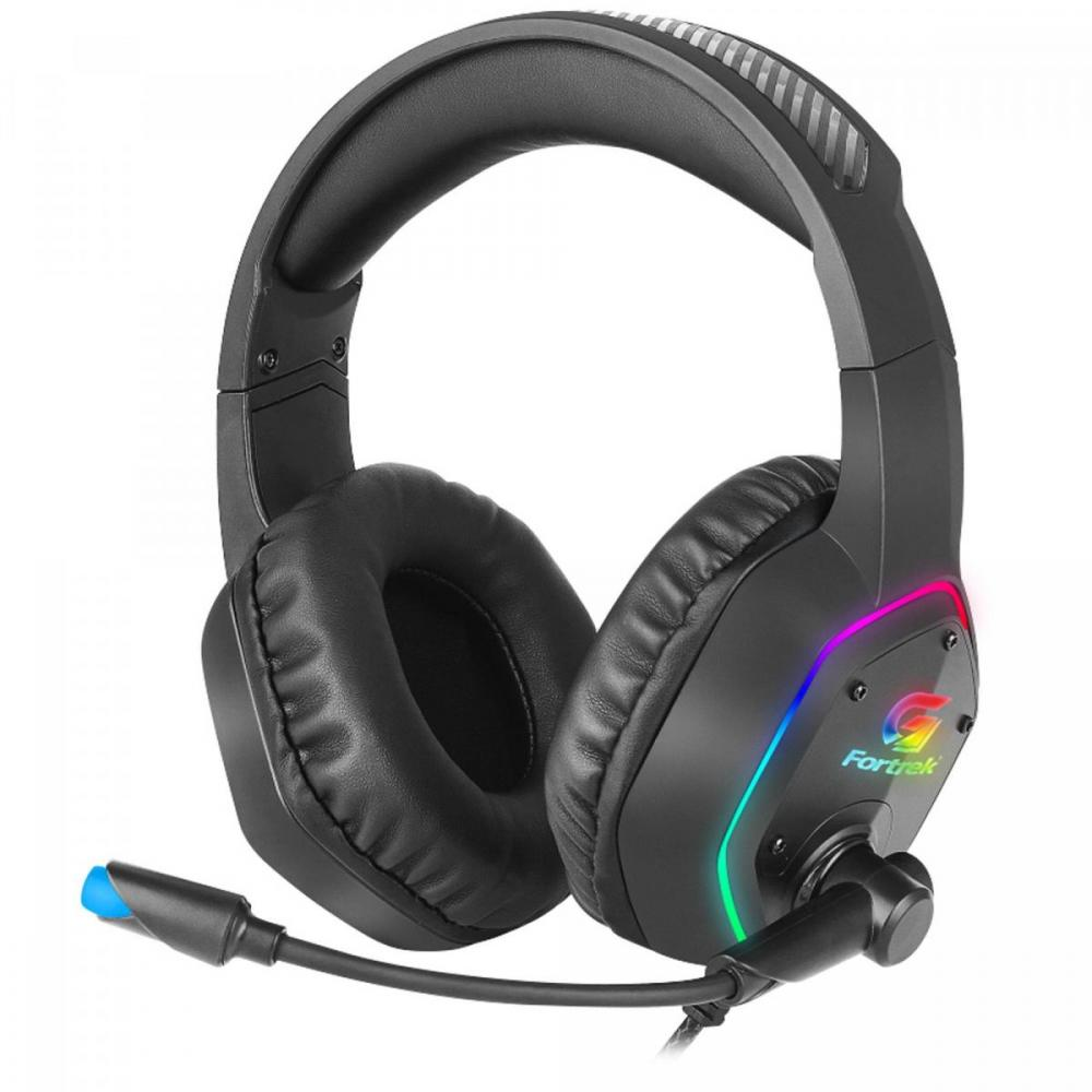 Headset Gamer Led RGB Blackfire Preto FORTREK Compatível C/ Ps4  Xbox One Celular Notebook