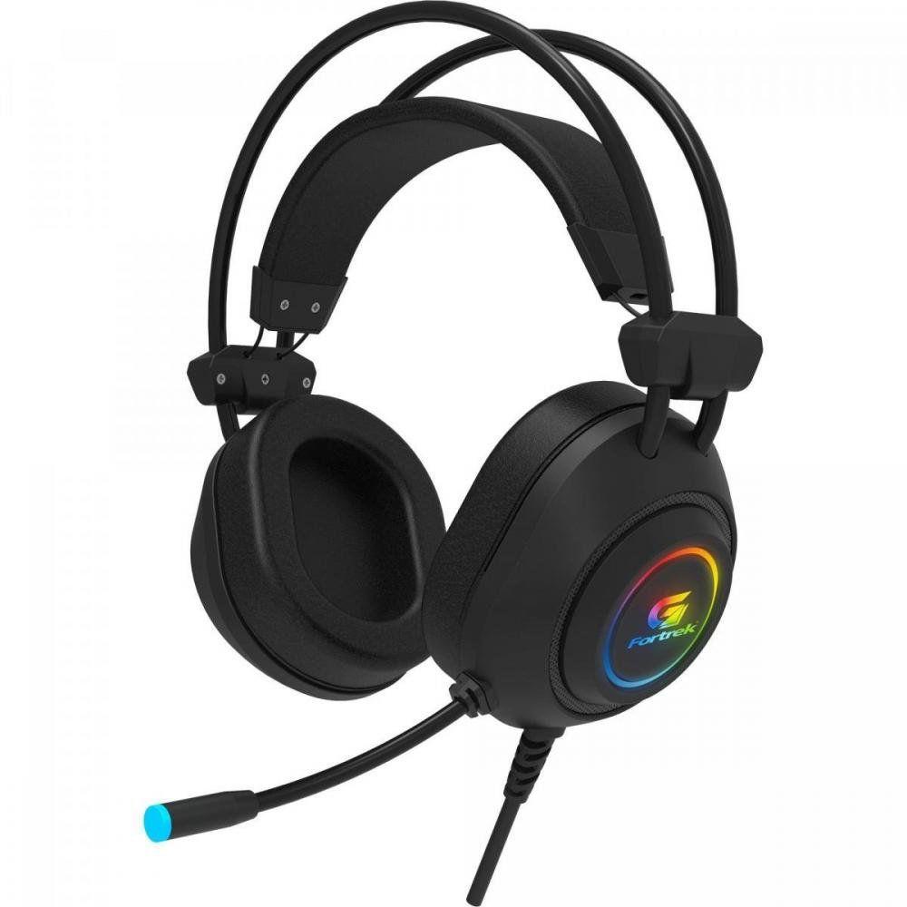Headset Gamer Led RGB Crusader Preto Fortrek Compatível C/ Ps4  Xbox One Celular Notebook